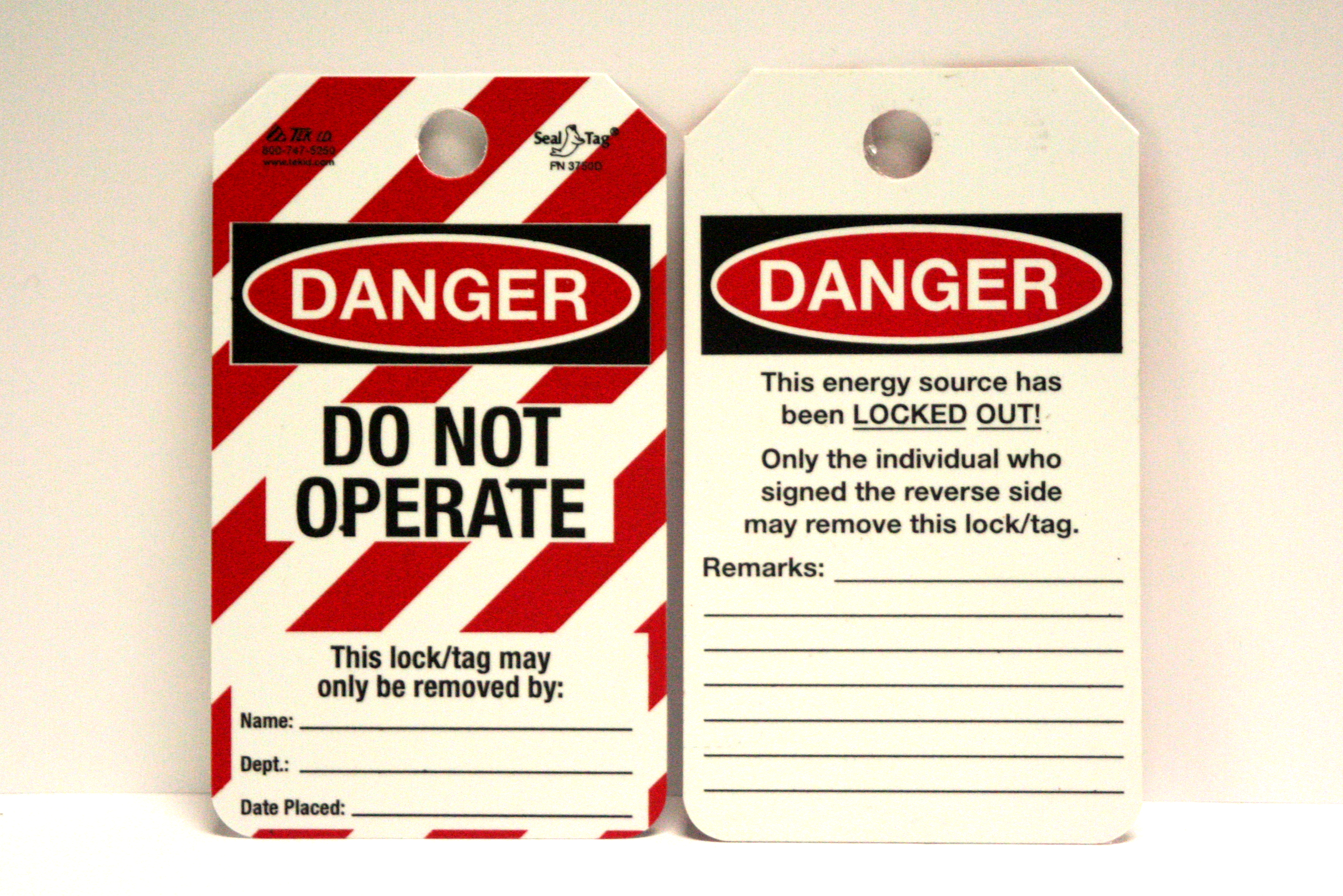 danger, do not operate, individual, tag