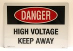 danger, high voltage, keep away sign