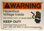 warning, hazardous, voltage, sign